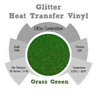 "Glitter IRON-ON Heat Transfer Vinyl 20"" x 12"" 1,3,5 and 10Yd *GRASS GREEN*"