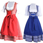 1Set Women Beer Maid Oktoberfest Costume German Bavarian Heidi Fancy Dress