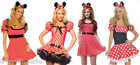 Ladies Minnie Mouse Fairy Tales Party Outfits Costume Fancy Dress TV Mickey