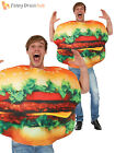 Adult Beef Burger Costume Mens Ladies Cheeseburger Comedy Stag Food Fancy Dress