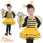 Child Ballerina Bee Costume Insect Bugs Girls Fancy Dress Kids Outfit Age 3-6