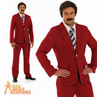 70s Newsreader Costume Fancy Dress Outfit Ron Burgandy Stag Party Mens New