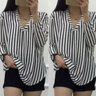 Fashion Women Ladies Summer Loose Chiffon Tops Long Sleeve Shirt Casual Blouse