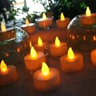 12/24pc Battery Tea Candle Warm Party Valentine LED Electric Flameless Tealights