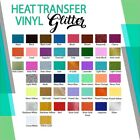 "Glitter Heat Transfer Vinyl Iron-On Vinyl 10"" x 12"" ROLL SHEET"