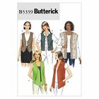 Butterick 5359 Easy Waistcoat Top Tunic XS to Plus Size Sewing Pattern B5359