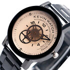 Kevin Casual Women Men Stainless Steel Band Gear Analog Sport Quartz Wrist Watch