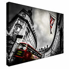 Bus & Union Jack Canvas Wall Art prints high quality
