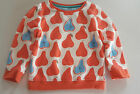 BODEN GIRLS SOFT SWEATSHIRT JUMPER FLORAL OR PEAR  AGES 2-12  BNWOT
