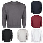 Mens Jumper Sweater Pullover Crew Neck Plain Long Sleeve Plus Size New US BASIC
