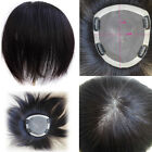 """5.9''x6.7"""" Remy Human Hair 3 layers Top Hair Topper Haireason toupee For Women"""