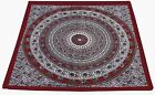 New 100% Cotton Square Table Cover Table Decor Wedding Banquet Beach Red