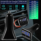 Dual USB 4.8A Fast Charging Rapid Car Charger LED Voltmeter for iPhone Samsung