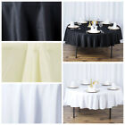 "6 pcs 90"" Round Premium Polyester Tablecloths Wedding Party Table Linens SALE"