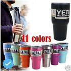 Hot 20/30 oz Powder Coated Yeti Rambler Tumbler 18/8 Insulated stainless Stee