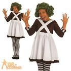 Child Oompa Loompa Costume Girls Factory Worker Fancy Dress Outfit Dahl Day New