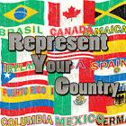 Country Flag Adult T-Shirt World Cup Soccer Football W  FREE Tapout Sticker INC