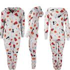 New Kids Warm Hooded Zip Up Girls Halloween Childrens Onesie Jumpsuit Years 7-14