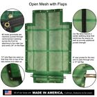 13oz Vinyl Coated Open Mesh Flip Tarp with Flaps for Dump Truck Beds & Trailers