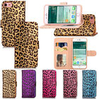 For iPhone 7 Leopard Painting Magnetic Wallet Silk PU Leather Stand Flip Case
