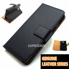 Luxury Genuine Real Leather Flip Case Wallet Cover For Samsung Galaxy S8 S7 S9 <br/> 2 STYLES -VINTAGE &amp; GENUINE LEATHER- ALL SAMSUNG MODELS