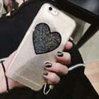 Cute Bling Sparkle Glitter Love Strap Clear Case Cover for iPhone 6/6S/7/7 Plus