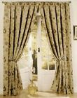 "Tapestry Fully Lined Heavy Weight Curtains + 3"" Header and Tiebacks"