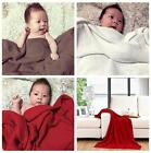 Baby Kids Knit Breathable Air-conditioning Soft Sleep Nap Blanket 85*130cm LA