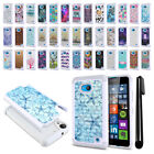 For Microsoft Nokia Lumia 640 Anti Shock Studded Bling HYBRID Case Cover + Pen