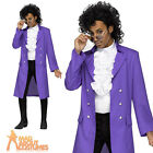 Prince Purple Pain Costume Mens 80's Fancy Dress Music Celebrity Outfit