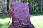 Lg Custom Wood & Leather Blank Journal, Diary, Book of Shadows - Celtic Cross