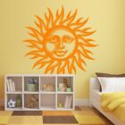 Happy Sun Face Vinyl Wall or Ceiling Decal - fits nursery, bedroom + more K654