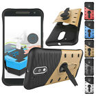 360° Stand Hybrid Air Gap Protective Hard Armor Case Cover For Motorola Moto G4