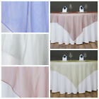 "20 pc 60"" Sheer Organza Square Table OVERLAYS Wedding Catering Party Decorations"