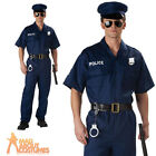 Adult Police Costume Officer Cop Mens Fancy Dress Outfit New