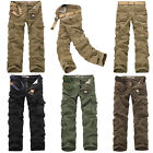 Classic Cargo Camo Combat Military Mens Trousers Camouflage Casual Pants UK30-42