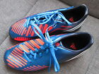 BOYS ADIDAS PREDATOR FOOTBALL BOOTS ASTRO TURF OR FG MOULDED BLUE UK 1 OR 5.5