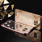 Shockproof Flower Soft Gel TPU Bling Case Bumper Cover for Samsung Galaxy phones