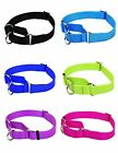 Martingale Dog Collar No Slip Choke Training Dog Collar Nylon Mult Size & Colors