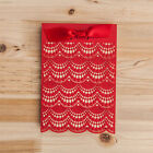 Red Ribbon Laser Cut Invtation Card For Wedding, Anniversary, Envelope, Stickers