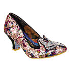 Irregular Choice Miss Foxy Multicoloured Sequin Low Heel Ladies Shoes