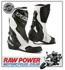 TCX S-Speed Motorcycle Motorbike Boots - White/Black
