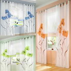 1Set New Window Curtain Screens Plant Flower For Living Study Room Bedroom Gift