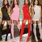 Sexy Womens Lace Sheer Babydoll Lingerie set Body Stockings Mini Dress Bodysuit