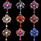 1pcs Crown Rhinestone Crystal Diamante Brooch Wedding Bridal Pin Broach