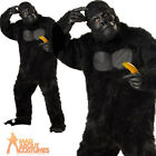 Adult Gorilla Costume Animal Chimp Monkey Fancy Dress Outfit New
