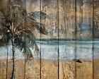 Coastal Ocean Beach Theme Rustic Bathroom Bedroom Home Decor Matted Picture