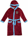 West Ham FC official boys hooded fleece dressing gown age 3-13 years