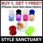Silicone Flesh Tunnel Ear Plug Soft Flexible Earlet Ear Stretcher Expander NEW