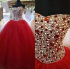 Beaded Quinceanera Dresses Prom Formal Wedding Pageant Dress Ball Gown Custom